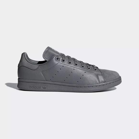 best website c63c5 3f4b2 Adidas Originals Stan Smith Leather Grey B37921 NWT